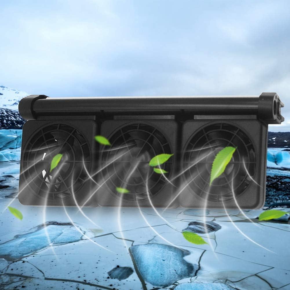 Durable 100-240V Fish Tank Chiller Four heads Germerse Fish Tank Cooling Fan Aquarium Heat Dissipation Fan Portable for Salt Fresh Water Water Tank