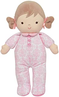 Little Me Plush Baby Doll with Rattle, Brigitte(Pink Floral, 10 inch)