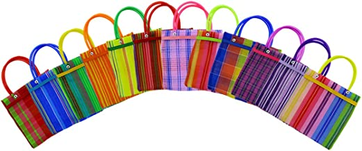 LYTIO Mesh Bag Colorful Traditional Mexican Tote Perfect for Groceries (5pack)