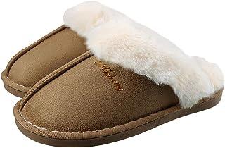Pantofole da casa per Uomo Donna Peluche Memory Foam Scarpe da Casa Morbido Antiscivolo Caldo Comode Invernali Pantofole p...