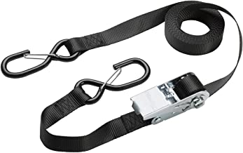 Master Lock 3109EURDAT Gecertificeerde Spanband met ratel en S-haak, Zwart, 5 m x 25 mm Spanband