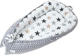 joyMerit Baby Lounger and Baby Nest Sleeping Baby Bassinet Bed Verde/Gris/Rosa/Amarillo - Estrella Gris, Individual