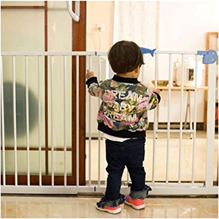 LELEGuardrail With Double Lock Extra Wide Baby Pet Safety Gates Foldable Pressure Mount Isolation Fence Barrier For Fireplace Staircase Fence 25 7-102 9in  Color High76 width  Size 215-224cm