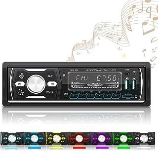 OiLiehu Single Din Digital Media Car Stereo, Bluetooth Audio, MP3 Player, FM/AM/RDS/DAB/Dual USB/ Aux-in/TF Card Port, No ...