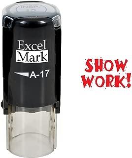 Round Teacher Stamp - Show Work! - RED Ink
