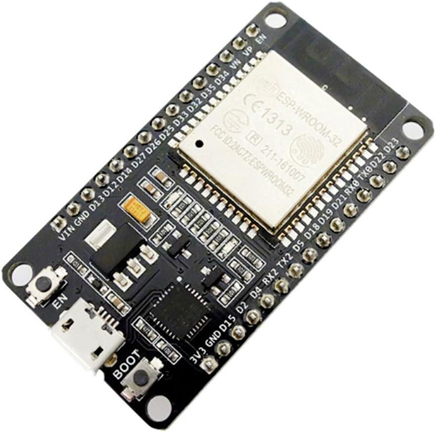 SeeKool Tablero de Desarrollo ESP-32 ESP-32S WiFi + Bluetooth 2-en-1 Dual Core Módulo de Antena de 2.4 GHz con Antena RF Amp Filtro Ap STA Arduino IDE, Ultra-Low Power (1 pcs) (1 Pc)