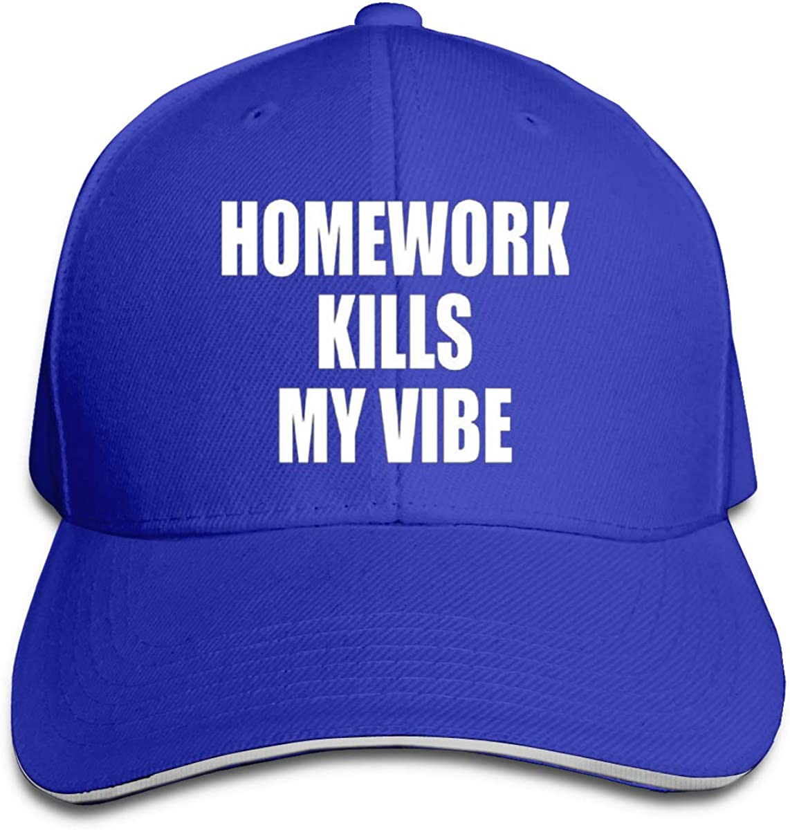 Homework Kills My Vibe Hat Baseball Cap Duck Tongue Cap Fashion Cap