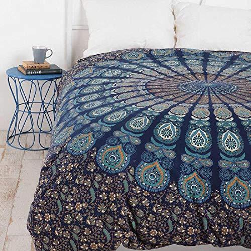 WUHUAN Mandala Boheemse wandtapijt, wooncultuur woonkamer hangen doek slaapzaal decoratie, tafelkleed, beddengoed, bankovertrek, etc, keuze uit negen patronen 200 * 150cm 9