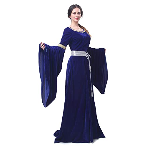 dda61515b73a21 Renaissance Medieval Dress Nuoqi Women's Victorian Gown Costume Long Dress