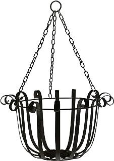 Hanging Planter Basket Flower Pot Holder Round Iron Hanging Planter Pot Basket Floating Wall Hanging Planter Vase Containe...