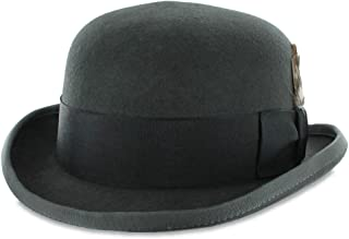 c098df2f75701 Belfry Bowler Derby 100% Pure Wool Theater Quality Hat in Black Brown Grey  Navy Pearl