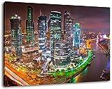 Moskau in der Nacht Format:120x80 cm Bild auf Leinwand
