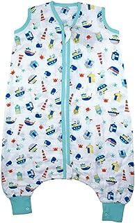 Slumbersac Muslin Sleeping Bag with Feet Approx. 0.5 Tog - Nautical- 5-6 years/47 inches
