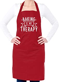 Dressdown Baking Is My Therapy - Unisex Adult Fit Apron - 5 Colours