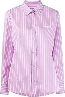 MSGM Luxury Fashion Womens 2841MDE06Y20700370 Purple Shirt |