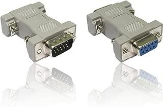 CDL Micro Adattatore da DB9 Femmina a VGA 15 Pin Maschio-Adattatore convertitore