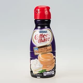 COFFEE MATE Italian Sweet Crème Liquid Coffee Creamer 32 Fl. Oz. Bottle | Non-dairy, Lactose Free, Gluten Free Creamer