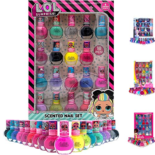 Girls LOL Diva Dolls Fun Colorful Play Jewelry Secret Fruity Scented Kids Nail Art Design Accessories 18pcs Gift Set