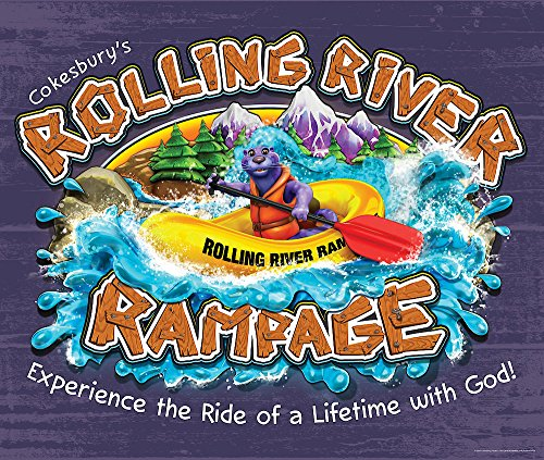 Vacation Bible School Vbs 2018 Rolling River Rampage Large Logo Poster: Experience the Ride of a Lifetime With God!