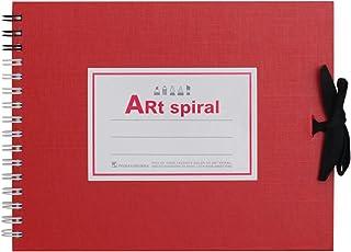 マルマン スケッチブック アートスパイラル F0 厚口画用紙 24枚 レッド S310-01