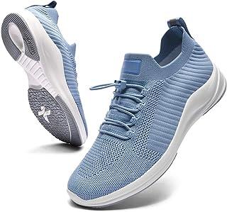 Ahico Sneaker da Uomo alla Moda Slip On Mocassini Scarpe Sportive Leggere Antiscivolo in Mesh Traspirante Casual