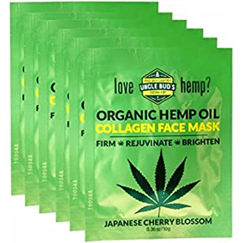 Uncle Bud's Hemp Collagen Face Mask with pure Organic Hemp Seed Oil – 6 PACK BUNDLE