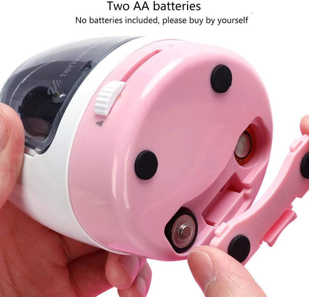 Electric Pencil Sharper Automatic Pencil Sharpener Battery Operated for Kids,Student Artist Black