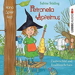 Zauberschlaf und Knallfroschchaos     Petronella Apfelmus 2              By:                                                                                                                                 Sabine Städing                               Narrated by:                                                                                                                                 Nana Spier                      Length: 2 hrs and 37 mins     1 rating     Overall 4.0