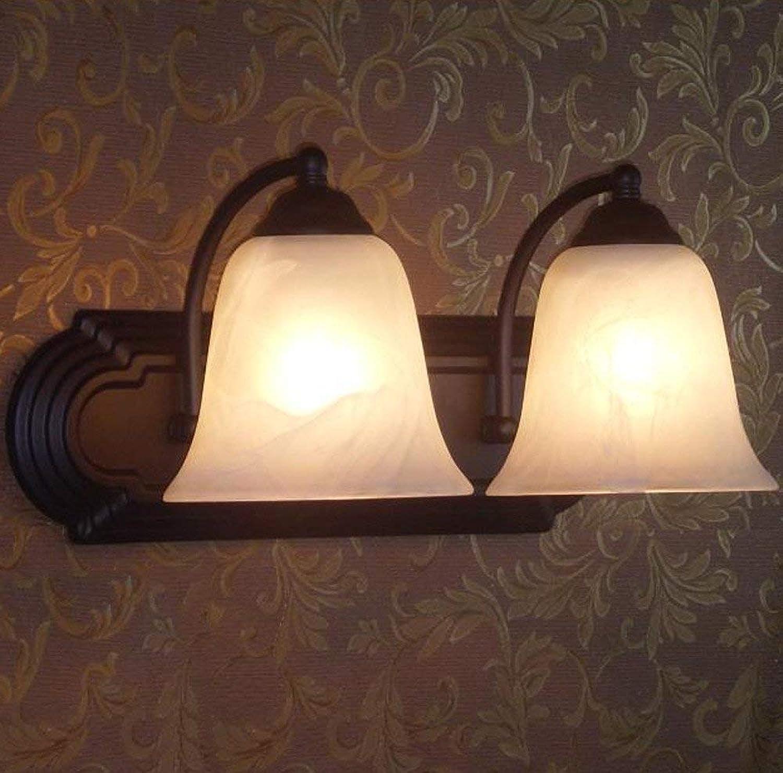 BAIF Spiegelfrontlichter, europische Artwandlampe Spiegelfrontlicht Eisenlampe Doppeltes Hauptschlafzimmerbadezimmer Einfache Lichtquelle des Badezimmers E27