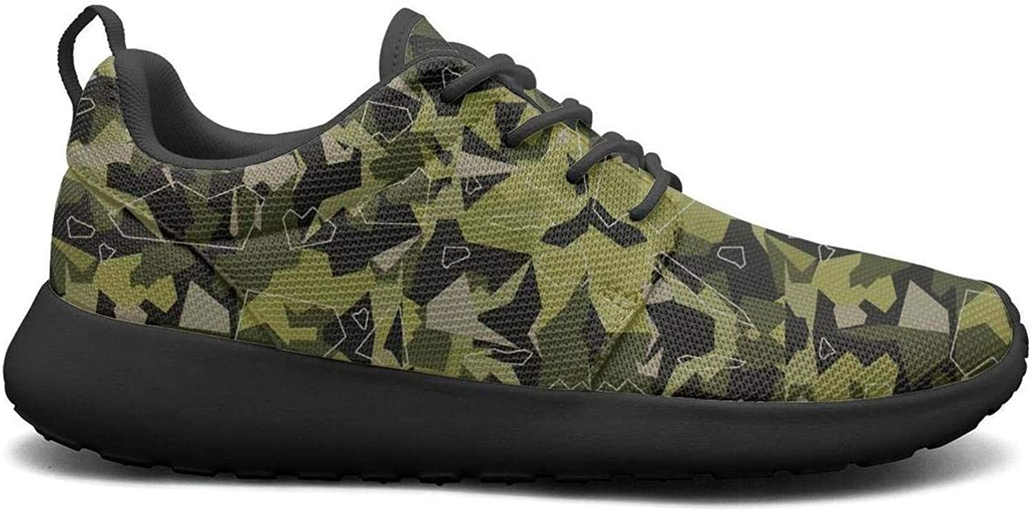 Wuixkas Camouflage Army Womens Lightweight Mesh Sneakers Comfortable Sports shoes