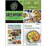 The Greenprint, Vegan Cookbook For Beginners, Whole Food Plant Based Diet Plan, Vegan Longevity Diet 4 Books Collection Set