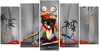 sechars - Canvas Print Wall Art Modern Frog Buddha Meditation Painting Picture Funny Animal Art Prints Contemporary Home Decoration Stretched Gallery Canvas Wrap Frog Art Ready to Hang