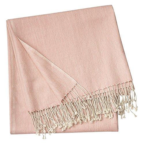 Linum Vertigo Decke 130x170 Misty Grey pink