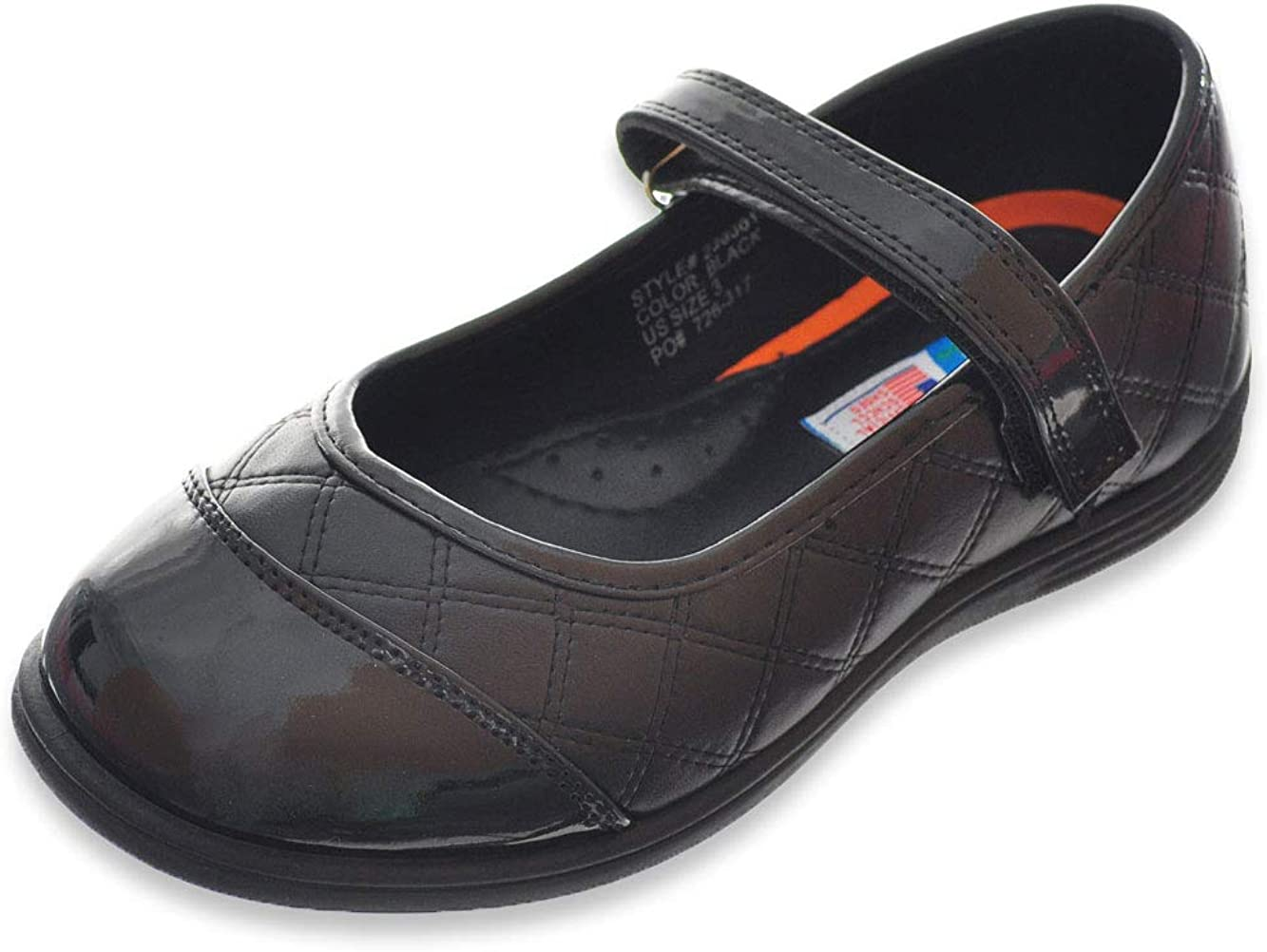 Angels Little Girls Mary Jane Shoes - Black, 4 Youth