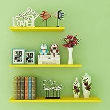 MU Pływające półki, montowane na ścianie salon dekoracyjny laminat, mała przestrzeń duże przechowywanie łatwe do czyszczen...
