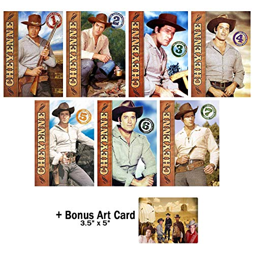 Cheyenne: Complete Classic Western TV Series Seasons 1-7 DVD Collection with Bonus Art Card