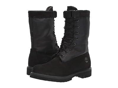 Timberland 6 Premium Gaiter Boot (Black Nubuck) Men