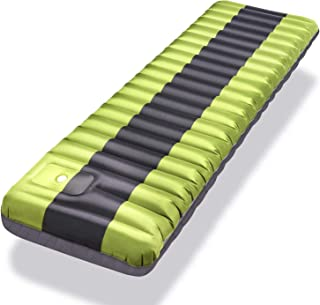 Inflated Sleeping Pad Lightweight Inflatable Camping Mat Comfortable & Ergonomic Textured Design Airbed with Packing Bag f...