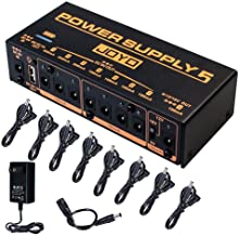 JOYO Built-in 4400mAh Rechargeable Battery Guitar Effect Pedal Power Supply 8 Outputs 9V 12V 18V (100mA, 500mA) Jacks & 5V...