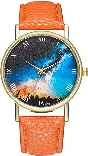 Female Watch for Small Wrist,Dress Watch,Roman Numerals Watch Women,Stainless Steel Watches for Women,Women Watches (Orange)
