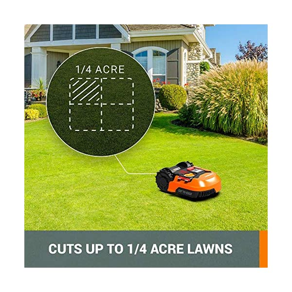 WORX WR143 Landroid M 20V PowerShare Robotic Lawn Mower with GPS Module Included 4
