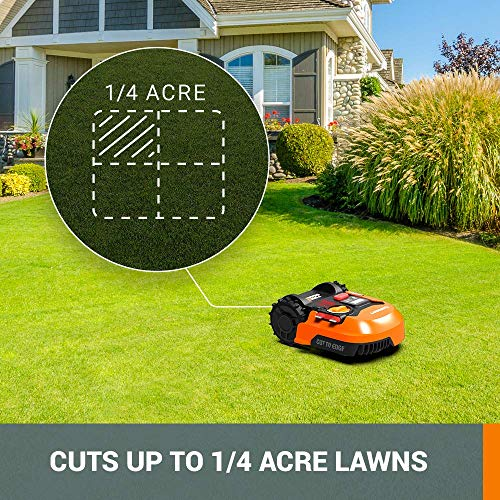 WORX WR140 Landroid M 20V Power Share Robotic Lawn Mower, Orange