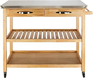 kitchen cart with drawers and shelves