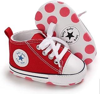 Zapatillas de Lona Estilo Urbano con Suela Blanda Antideslizante Primeros Pasos para Bebés de 6 a 18 Meses (12 a 13 cm Suela)