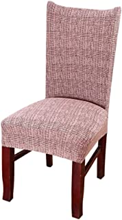 Jiyaru Chair Covers Chair Removable Washable Dining Chair Protector Slipcovers Seat Slipcover Pale Mauve