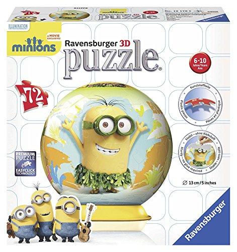 Ravensburger Italy- Minion Ball Despicable Me/Minions Puzzle 3D, 72 Pezzi, Multicolore, 12170