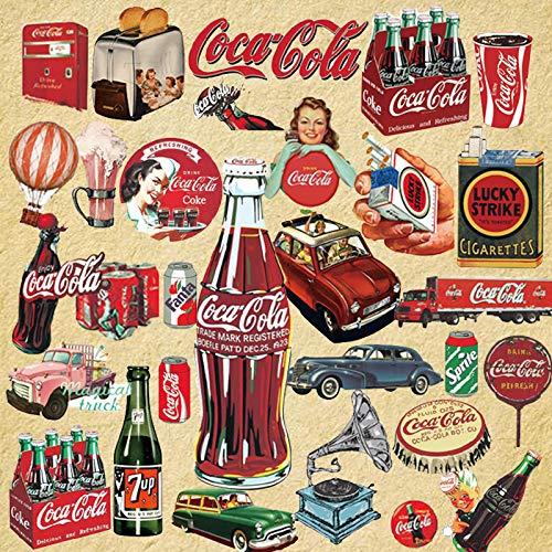 OJVVOP Europa Und Die Us-Retro-Coca-Cola-Aufkleber Koffer Koffer Trolley Box Aufkleber wasserdichte Computer-Gitarre Aufkleber