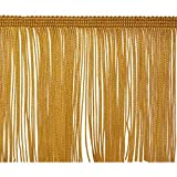 Expo International 5 Yards of 4' Chainette Fringe Trim, Gold