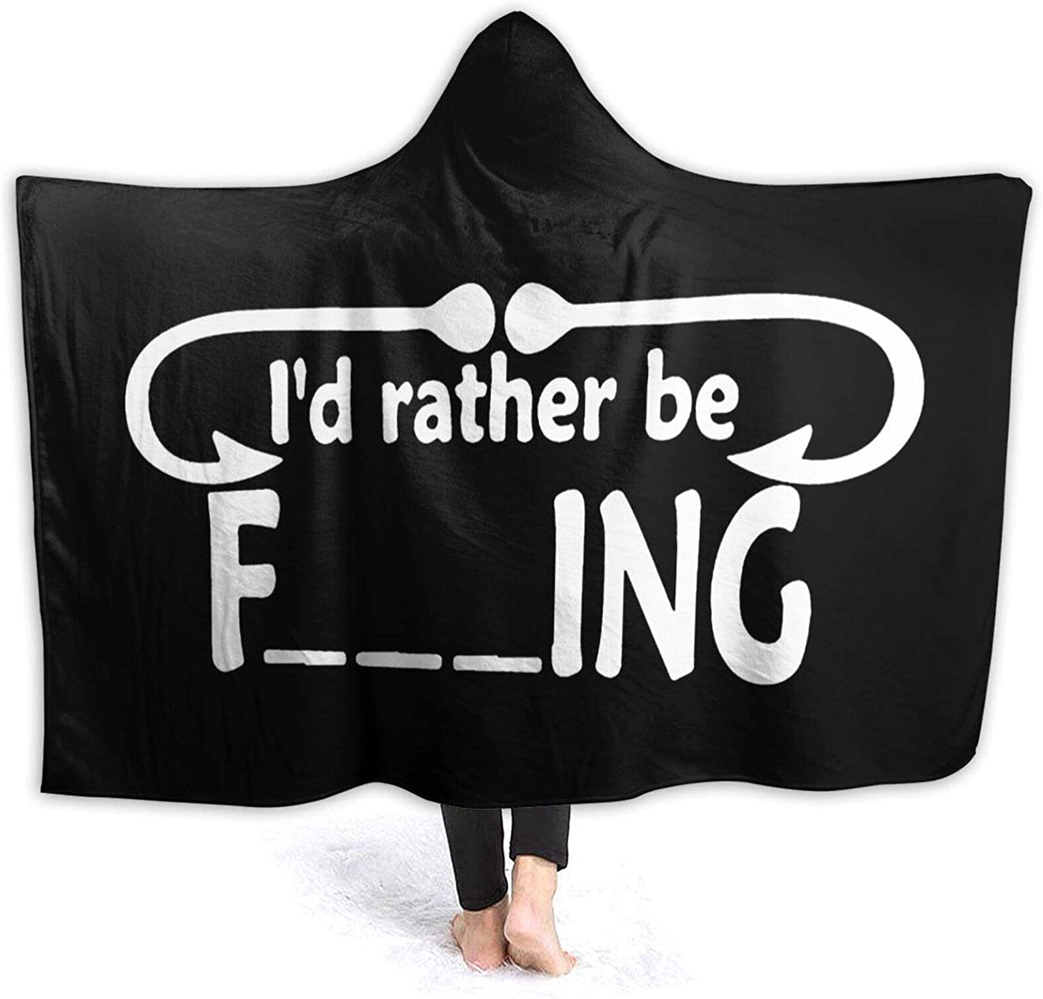 Max 47% OFF I'd Rather Outlet ☆ Free Shipping Be Fishing Wearable Sofa Blanket Throw Blanke Stylish