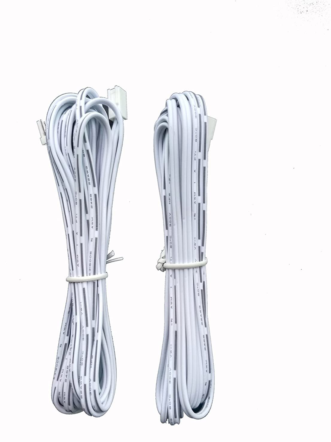 Xking 2Pcs 3m/9.8 Ft 2-Pin Male and Female Cable Plug Connector Extension Wire, 2510 Port Extension Cable, 2.54mm Pitch, LED Cabinet Light Extension Cord